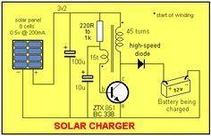 Solar garden light circuit diagram electronics pinterest solar charger cheapraybanclubmaster Images