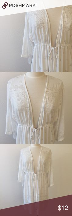 White Swim Cover-Up, NWT! Size Medium gorgeous NWT cover up! Perfect for the pool or beach. Ask all questions prior to purchase •  bundle to save •  willing to consider any reasonable offer  <3 Dotti Swim Coverups