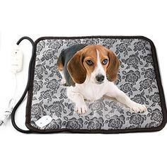 nice RIOGOO Pet Dog Waterproof Electric Heating Mat Thermal Cat Warming Pad With Anti Bite Tube
