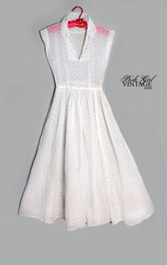 cute 40's dress - ok, imagine this without the collar, made of lace, put over a super simple strapless white dress of the same length, maybe even more of a straight cut (think pencil skirt) to contrast the full over-skirt