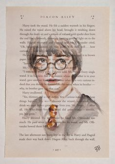 ORIGINAL Watercolor Harry Potter Book Page - Harry Potter
