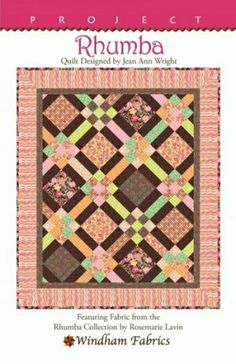 """Rhumba"" quilt pattern. FREE download from Windham Fabrics :)"
