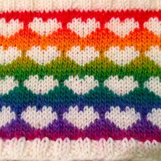 HAPPY VALENTINE'S DAY!  peaseblossom's love, jp style with Mini Mochi 101 Intense Rainbow by Crystal Palace Yarns