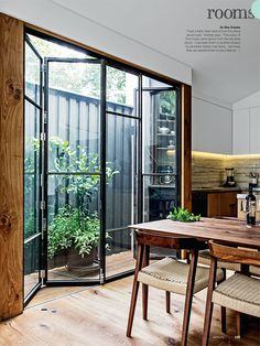 real living magazine may 2014, folding steel&glass patio doors, cool Australian home design, modern home design