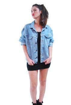 Blue Jeans Old School Vintage Jacket For Women 1960s