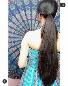 Long Hair Ponytail, Indian Long Hair Braid, Braids For Long Hair, Ponytail Hairstyles, Cool Hairstyles, Long Silky Hair, Long Black Hair, Super Long Hair, Thick Hair