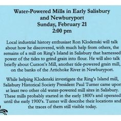 Tide Mills Lecture Sunday February 21 @ 2PM