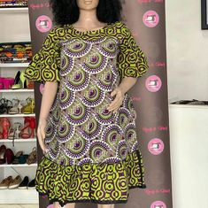 African clothing Kanga print short dress for women's / African print kanga Best African Dresses, African Fashion Ankara, Latest African Fashion Dresses, African Print Dresses, African Print Fashion, Africa Fashion, African Attire, African Prints, African Style