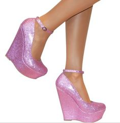 Lavender sparkley wedges awesome