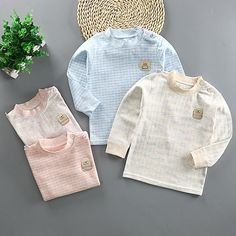 A blend of cotton and polyester. Breathable, soft, comfortable, and skin-friendly. Fits true to size. A perfect holiday present for the winter season. Baby Shirts, Boys T Shirts, Plaid Outfits, Fall Outfits, New Years Sales, Winter Season, Long Sleeve Shirts, Tees, Casual