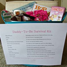 Trendy Baby Crafts For Daddy Survival Kits 19 Ideas New Dad Survival Kit, Survival Gear, Wilderness Survival, Survival Prepping, Survival Skills, Quotes Girlfriend, Bebe Shower, Girl Shower, Fathers Day Wishes