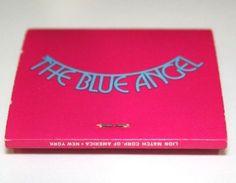 Blue Angel NYC Matchbook Cabaret Supper Club Front Strike Unused Unstruck Lion #BlueAngel #NewYorkCity