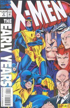X-Men The Early Years (1994) 4 Marvel Comics Modern Age Comic book covers Super Heroes VilliansX-men Mutants