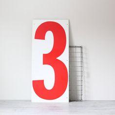 Vintage number sign - no.3. #vintage, #sign, #number
