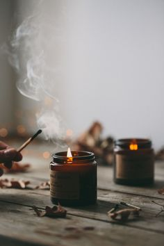 warming scented candles create that perfect hygge moment Soy Wax Candles, Candle Jars, Scented Candles, Fall Inspiration, Photoshoot Inspiration, Yoga Inspiration, Autumn Cozy, Autumn Fall, Dark Autumn