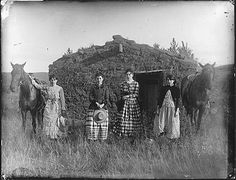 """The Chrisman Sisters"" (1886)  Lizzie Chrisman filed the first of the sisters' homestead claims in 1887. Lutie Chrisman filed the following year. The other two sisters, Jennie Ruth and Hattie, had to wait until they came of age to file. They both filed in 1892. photo from the SOLOMON D. BUTCHER COLLECTION"