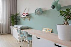 Cute desk and wall decoration for girls - Kinderzimmer Ideen - Cute Wall Decor, Kids Wall Decor, Room Interior, Interior Design Living Room, Girl Desk, Cute Desk, Ikea Wall, Ikea Kids, Kids Room Design
