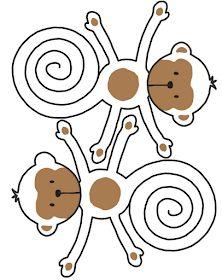 Estava eu aqui a pesquisar coisitas... vejam o que eu encontrei! Um macaco muito fofo, grudado em sua banana... fica aí a dica para deixa... Monkey Birthday Parties, Boy Birthday, Monkey Template, Crafts To Do, Paper Crafts, Monkey Crafts, Baby Clothes Brands, Penguin Craft, Free Christmas Printables