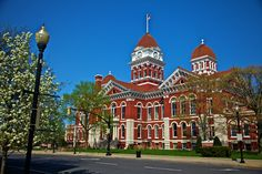 """Crown Point court house - couldn't hold John Dillinger. Because Crown Point had no waiting period for marriage licenses, the city became a popular place to get married and became known as the """"Marriage Mill"""". Many famous people came to Crown Point to be wed including 2009Tom Mix, Rudolph Valentino, Cassius Clay, Jackson 5 patriarch Joseph Jackson."""