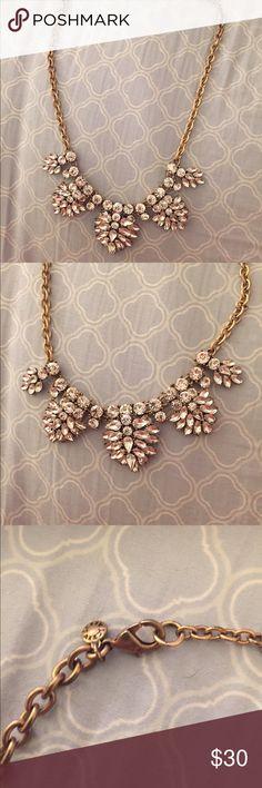 J. Crew Diamond and Gold Necklace Excellent used condition Gold and diamond necklace by J. Crew. J. Crew Jewelry Necklaces