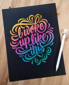 Fantastic lettering by @hamrick | #typegang - typegang.com