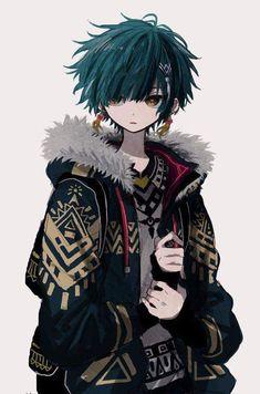 Original Artwork by Dark Anime Guys, Cool Anime Guys, Cute Anime Boy, Anime Art Girl, Manga Art, Anime Chibi, Anime Oc, Anime Angel, Fantasy Character Design