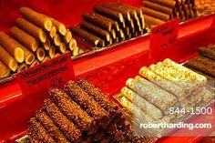 Chocolate stall at the Christmas Market, Dortmund, North Rhine-Westphalia, Germany, Europe