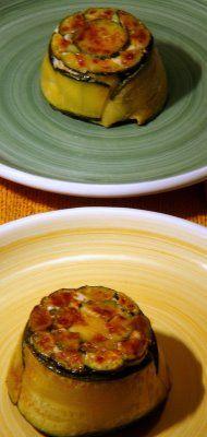 sformatini di zucchine, ricotta e pinoli