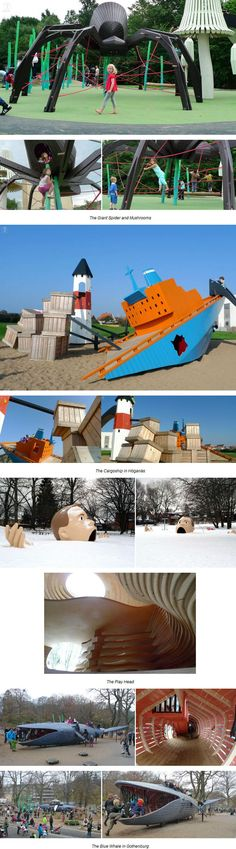 Wordless Wednesday - Unique playscapes from Copenhagen