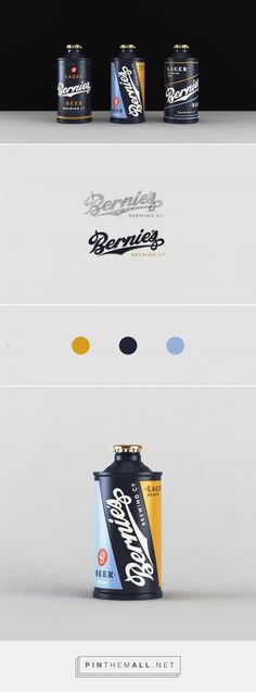 Bernie's brewing Co         on          Packaging of the World - Creative Package Design Gallery - created via https://pinthemall.net