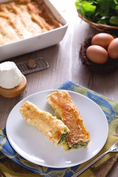 I #cannelloni di ricotta e spinaci sono un classico primo piatto per il pranzo…