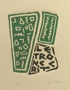 "#Guth ""S/T"", 1994. Xilografía sobre madera de  cm., Papel Rives de 250 gr de medidas 33x25     cm. Ej.: 30 #art #xylograph"