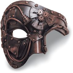 Steampunk Phantom Mask ($25) ❤ liked on Polyvore featuring mask