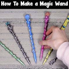 Weve got a special tutorial for all the wizard or fairy loving kids out there learn how to make a magic wand! The post How to Make a Magic Wand DIY Magical Wands Craft appeared first on Easy Crafts. 5 Minute Crafts Videos, 5 Min Crafts, Easy Diy Crafts, Craft Videos, Fun Crafts, Clay Crafts, Wood Crafts, Diy For Teens, Diy For Kids