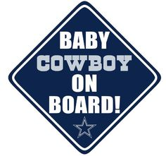Amazon.com: Dallas Cowboys Baby on Board. Car Decal.: Everything Else