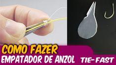 Como fazer um empatador de anzol caseiro ✱ Empate de azol ✱ Tie-Fast Kno...