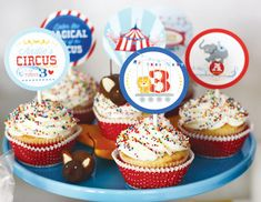 circus-birthday-party-cupcake-toppers