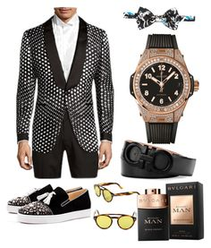 """Billy Bathgate"" by malikohenny on Polyvore featuring Tom Ford, Christian Louboutin, Hublot, Bulgari, Salvatore Ferragamo, Dolce&Gabbana, men's fashion and menswear"