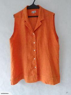 *HERO - TANGERINE LINEN SHIRT size 18 $5.00   Trade Me 18th, Hero, Shirts, Tops, Women, Fashion, Moda, Fashion Styles, Dress Shirts