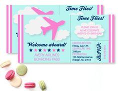PinkAirplaneBirthdayPartyNowBoarding Birthday Party Ideas