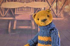 Etsy の Artist Teddy Bear soft toy ooak by SharlotaArtToys