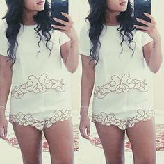 ✨ Camila Gold Trim Top ✨ Camila Gold Trim Shorts ✨ only $13.80 usd a piece  shopdevi • #shopdevi