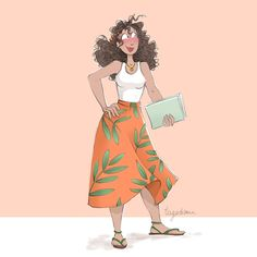 Outfit the day / Young woman - Illustration par Diane Dufour (aka Tagadiane) Woman Illustration, Freelance Illustrator, Snow White, Illustrations, Disney Princess, Disney Characters, Blog, Outfits, Women