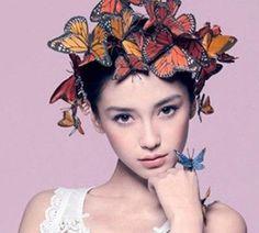 Interpretation of exotic coolest Ethnic hair Bobby Pin Hairstyles, Ethnic Hairstyles, Wedding Hairstyles, Accessoires Photo, Fairy Hair, Butterfly Kisses, Butterflies, Western Hats, Fancy Hats
