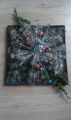 Kerst met sneeuwgespoten bereklauw, made by mijnzusjeenik.