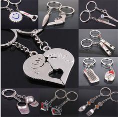 Cheap Pareja llavero Plateado Beso Amor Corazón Pareja RingHot Venta Llavero de Aleación de Zinc de Plata Key Chains & Key Rings, Compro Calidad Llaveros directamente de los surtidores de China: