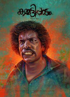 Character illustration I have done for the Malayalam movie 'Kammatipaadam'. Digital Portrait, Portrait Art, South Film, Character Illustration, I Movie, Mona Lisa, Behance, Artwork, Movie Posters