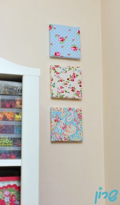 Simple idea to decorate a canvas with fabric in 5 minutes.