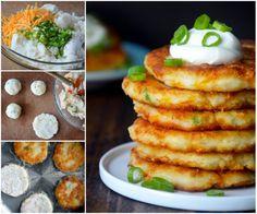 German Potato Pancakes Recipe – All Simply Recipes Leftover Mashed Potato Pancakes, German Potato Pancakes, Baked Mashed Potatoes, Mashed Potato Cakes, Russet Potatoes, Potato Dishes, Potato Recipes, Potato Ideas, Potato Corn Chowder