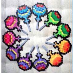 Lollipops perler beads
